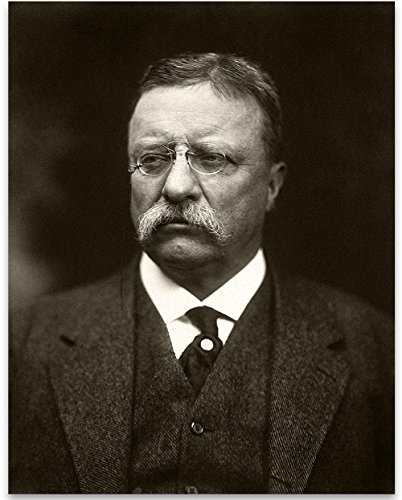Lone Star Art Theodore Teddy Roosevelt Portrait - 11x14 Unframed Print - Great Vintage Decor (Roosevelt Portraits Theodore)