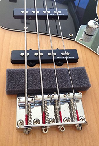 Bass Guitar Mute - Spree compatible replacement for Lot of 3 bass guitar mutes, fits 4 and 5 string Fender Squier