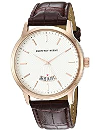 Geoffrey Beene Men's Quartz Metal and Polyurethane Dress Watch, Color:Brown (Model: GB8143RG)