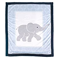 Luvable Friends Blanket with Sherpa Backing, Elephant