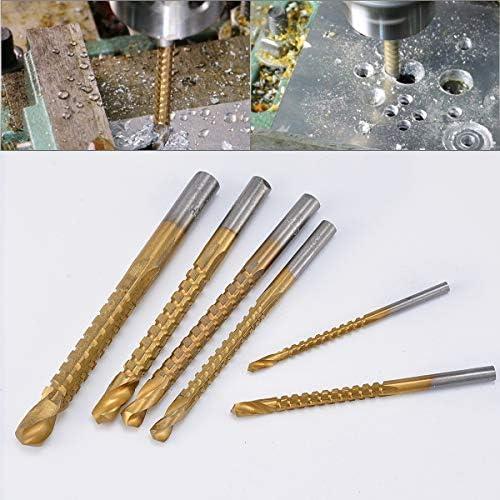 HOHXEN 3–8mm Kegelsenker Bohrer Power Tools Speed aus Metall titan beschichteter HSS Twist-Bohrer Bits Set Schwert Metall Bohren -6pcs
