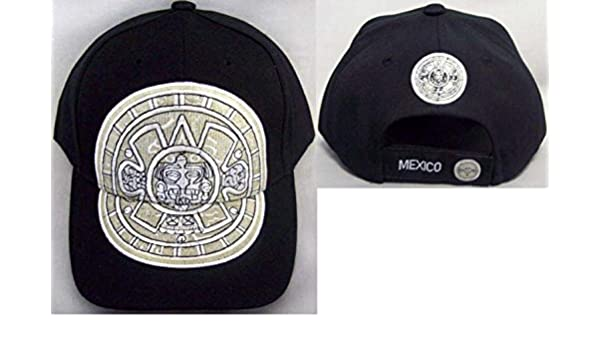 0c08af85cd6 Mexico Aztec Calendar Mexican Baseball Caps Embroidered (CapMx49 Z) at  Amazon Men s Clothing store