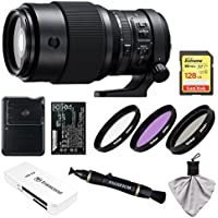 Fujifilm GF 250mm f/4.0 R LM OIS WR Lens with 128GB Card + Battery & Charger + Kit for GFX 50S Camera