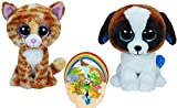 Ty Beanie Boos Tabitha the Cat and Duke the Dog set of 2 Friends with Bonus Sticker
