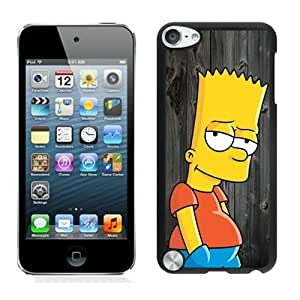 Custom Best Design Bart Simpson On Wood Black iPod Touch 5 Case