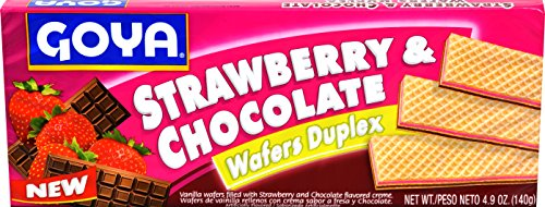 Goya Foods Strawberry & Chocolate Wafers Duplex, 4.9 Ounce (Pack of 24) by Goya