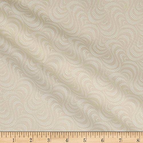 P & B Textiles Ramblings 11 Polka Dots & Paisley Cream Fabric By The Yard -  00770-RA11-01
