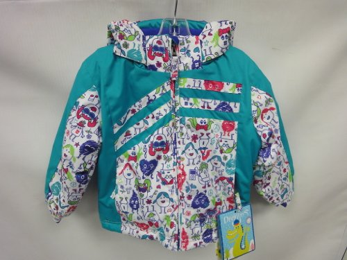 Snow Dragons Girl's Hand Spring Insulated Jacket Hot Chicks/Turquoise Size 3T by Snow Dragons