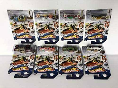 Complete Set of 8 Hot Wheels 2013 Mattel HOLIDAY HOT RODS 1/64 scale Ford Mustang Boss 302 Laguna Seca, Camaro Iroc, Rodger Dodger ()
