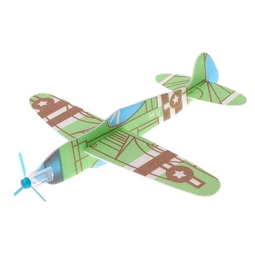 exing avi/ón de papel espuma Plan de vuelo de mano helic/óptero tuercas modelo regalo para ni/ños