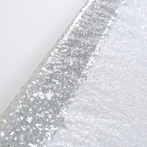 TRLYC 20 Ft X 10 Ft Silver Sequins Backdrop Curtain by TRLYC (Image #6)