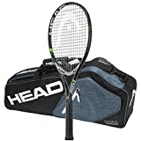 Cheap Head MxG 3 Tennis Racquet – STRUNG with 3 Racquet Bag (4-1/8)
