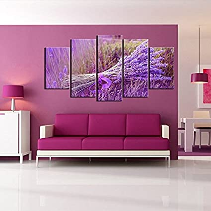 Amazon.com: PulsatingFingertip-5 piece Modern wall decor art picture ...