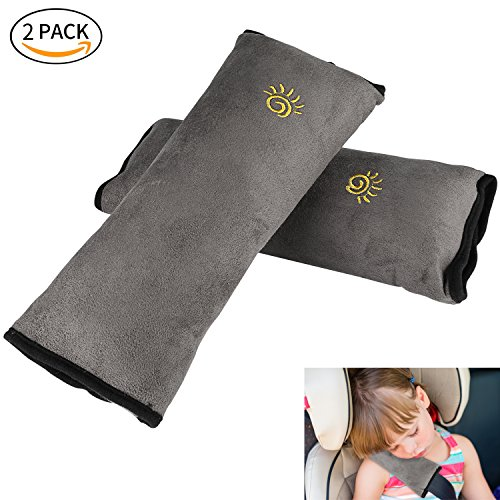 Kids Auto Seat Belt Pillow, XIANCAIDAN Baby Car Seat Belt Covers, Plush Soft Travel Adjust Vehicle Shoulder Pad, Car Safety Belt Strap Protector Cushion, Headrest Neck Support For (Seat Belt Outer Set)