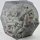 120 Pk Bulk All-Natural Lip Balms (in Lrg-Fishbowl) by Naturistick, Best Chapstick for Dry, Chapped Lips, 4 Soothing Flavors with Aloe Vera, Vitamin E, Coconut Oil for Men, Women and Kids, Made in USA