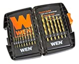 WEN DB15 Titanium-Coated Drill Bit Set (15 Piece)