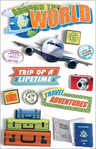 Paper House Productions STDM-0040E 3D Cardstock Stickers, World Travel ()