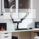 ECHOGEAR Premium Dual Monitor Stand - Adjust Your Monitors to The Perfect Spot with Dynamic Gas Spring Arms - Wobble & Droop-Free Desk Clamp Design Works with 2 Vertical Or Horizontal Monitors