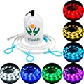 Portable USB LED RGB Rope Lights,20 Color Options Strip Linear Lights Waterproof W/ Mini RGB Controller for outdoor Camping,Hiking,Cycling,Safety,Emergency,Back Lighting