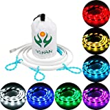 YuHan Portable USB LED RGB Rope Lights,20 Color Options Strip Linear Lights Waterproof W/Mini RGB Controller for outdoor Camping,Hiking,Cycling,Safety,Emergency,Back Lighting