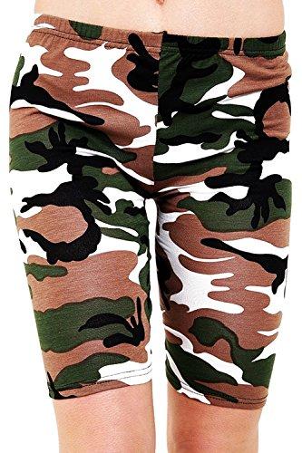 Donna Camo Green SA Pantaloncini Fashions EW0nq0XOB