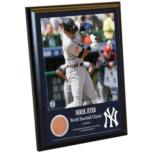 MLB New York Yankees Derek Jeter Moments: WBC 8x10 Dirt Plaque (Derek Jeter Rookie Year)