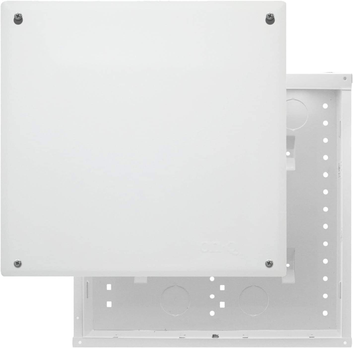 On-Q EN1400 EN 20 Gauge CRS Enclosure with Screw-On Cover, 14 inch, Glossy White