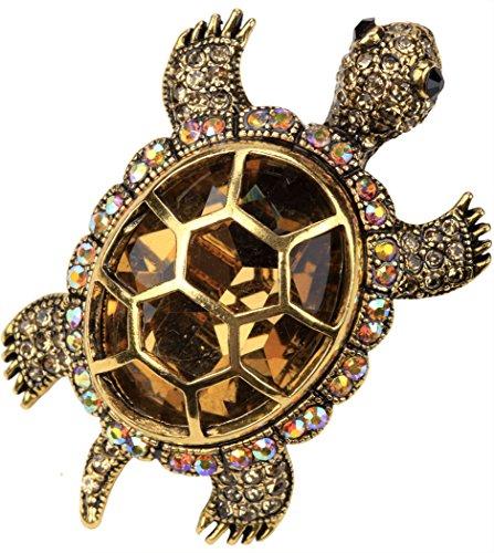 - YACQ Women's Crystal Big Turtle Pin Brooch Pendant Halloween Costume Jewelry Accessories