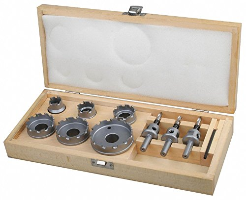 10-Piece Locksmiths Hole Saw Kit for Metal, Range of Saw Sizes: 7/8'' to 2-1/2'' by WestWard Tools