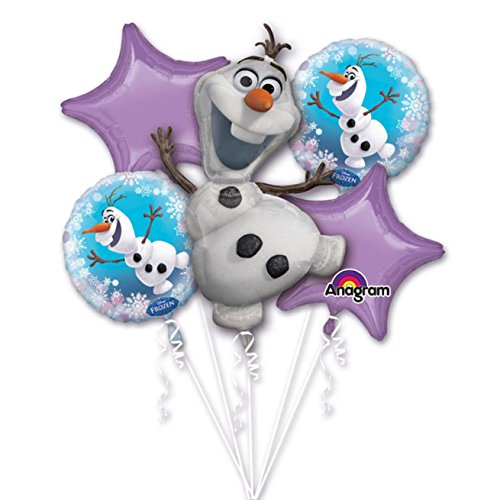 Anagram International 3126901.0 Frozen Olaf Bouquet Balloon (1 Pack), Multicolor
