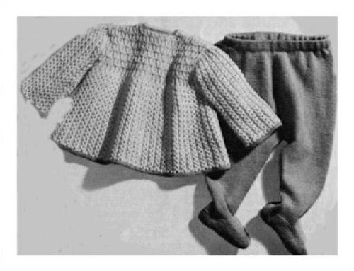 (#1385 KNITTED SMOCK AND LEGGINGS VINTAGE KNITTING PATTERN (Single Patterns))