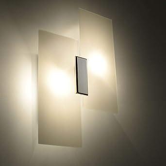 Stilvolle Wandleuchte in Chrom E27 Wand Modern Wandlampe Leuchte innen NEU