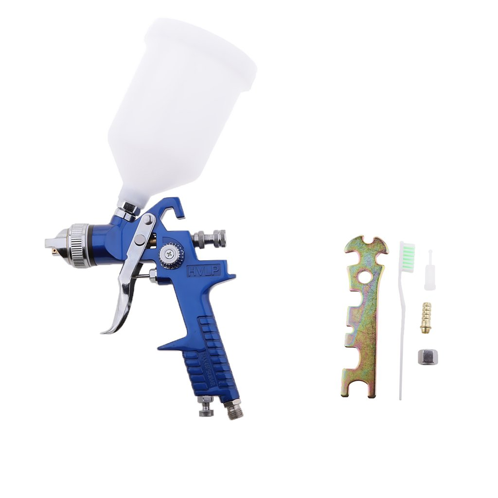 Jili Online Gravity Air Spray Gun Car Vehicle Paint 1.4mm/1.7mm Nozzle 600ML Cup Sprayer Kits - 1.7mm