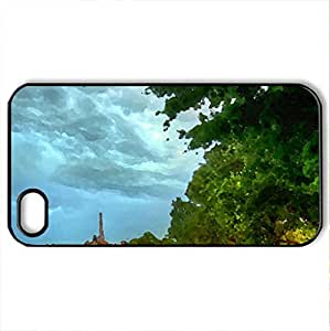 the french quarter in epcot center hdr - Case Cover for iPhone 4 and 4s (Amusement Parks Series, Watercolor style, Black)