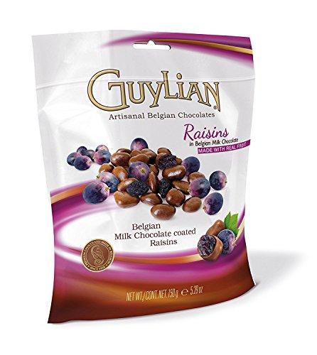 Guylian milk chocolate covered raisins in pouch - 150g