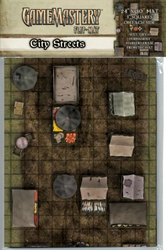 GameMastery Flip-Mat: City Streets (GameMastery Map Pack) (Gamemastery Flip Map)