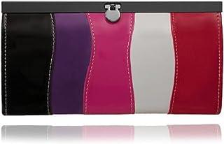 EyeCatchBags - Damen Geldbörse mit Mehrfarbigem Wellen Streifen Muster