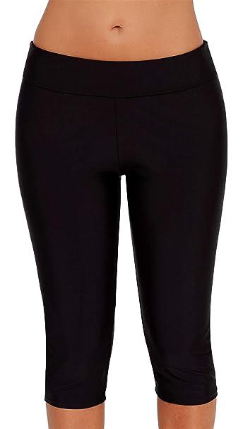 Sportbekleidung Ocean Plus Damen UV Schutz Schwarz Knielang