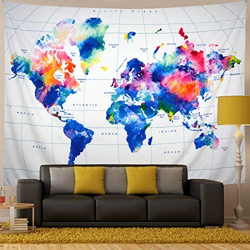 Generleo Tapestry Hanging Watercolor Colorful product image