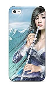 Special Design Back Flute Fantasy Women Abstract Fantasy Phone Case Cover For Iphone 5c