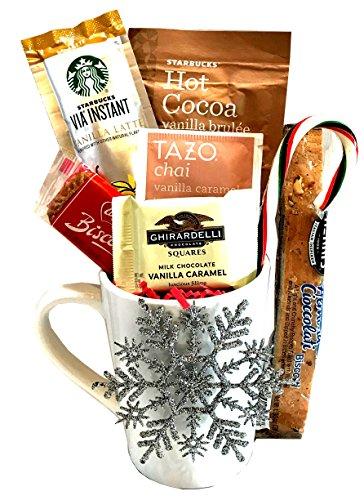 Christmas Gifts - Holiday Gifts - Starbucks Coffee Gift Sets - Twinings Hot Tea Gift Sets - Starbucks Cocoa Gift Sets (Coffee-Tea-Cocoa -Vanilla)