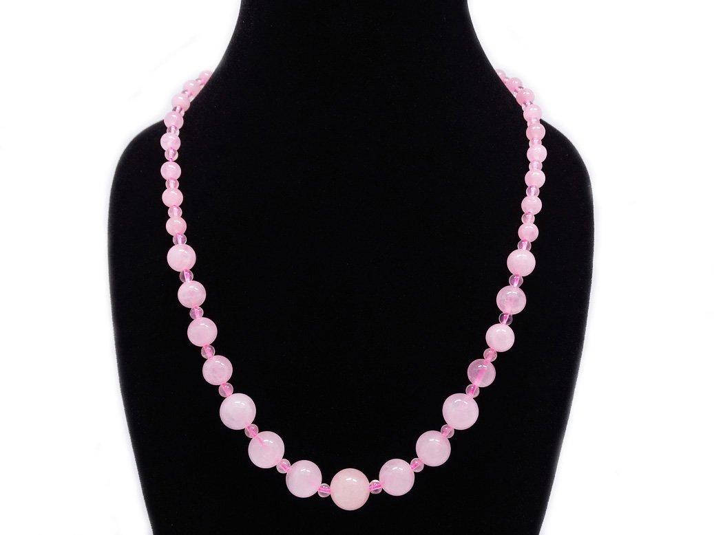 jennysun2010 Handmade Natural Gemstone Beads 4~12mm Graduated Adjustable Necklace Healing JSSmoothNecklace4~12mmCA-6