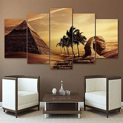 Egyptian Wall Art, Great Sphynx of Giza, Egypt, Pyramid, Wall Decor,