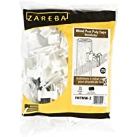 Zareba IWTNW-Z Poly Tape Wood Post Insulator, 25 Per Bag, White