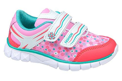 gibra - Zapatillas de Material Sintético para niño rosa/mint