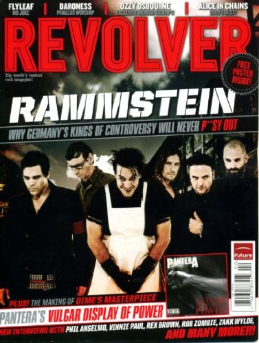 Revolver January 2010 Rammstein on Cover, Pantera, Rob Zombie, Flyleaf, Baroness, Ozzy Osbourne, Alice In Chains, The Making of Dime's Masterpiece, Pantera Poster