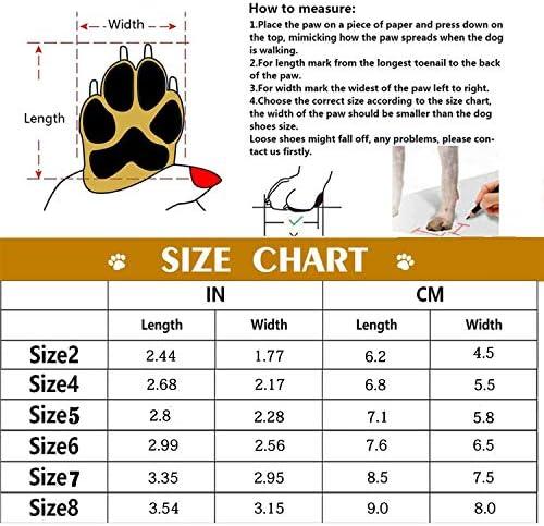 Havenfly 4 pcs Bottes Chien,Chaussures pour Chiens imperméables avec Bretelles réglables réfléchissantes pour Petits Chiens de Taille Moyenne (6)