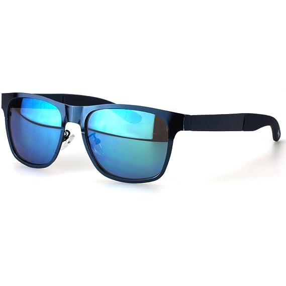 Sense42 Retro Sonnenbrille mit Bügel im Alligator Design Schwarz, Nerdbrille Wayfarer-Stil Damen Herren Unisex mit Brillenbeutel