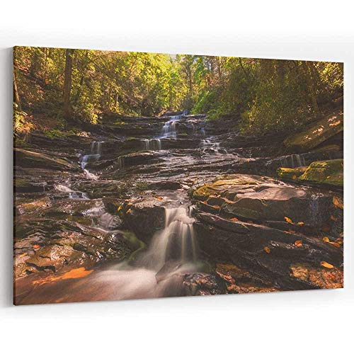 Serene Waterfall in North Georgia Canvas Art Wall Dector Painting Wall Art Picture Print on Canvas