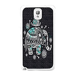 Personalized Samsung Galaxy Note 3 N9005 Popular Animal Pattern Design Hard Plastic Back Mobile Phone Cases Protector (aztec tribal elephant BY401)